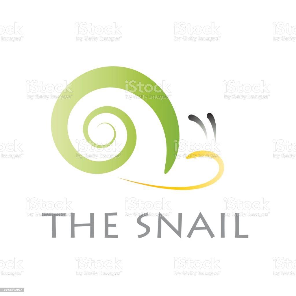 Vector sign abstract snail vector art illustration