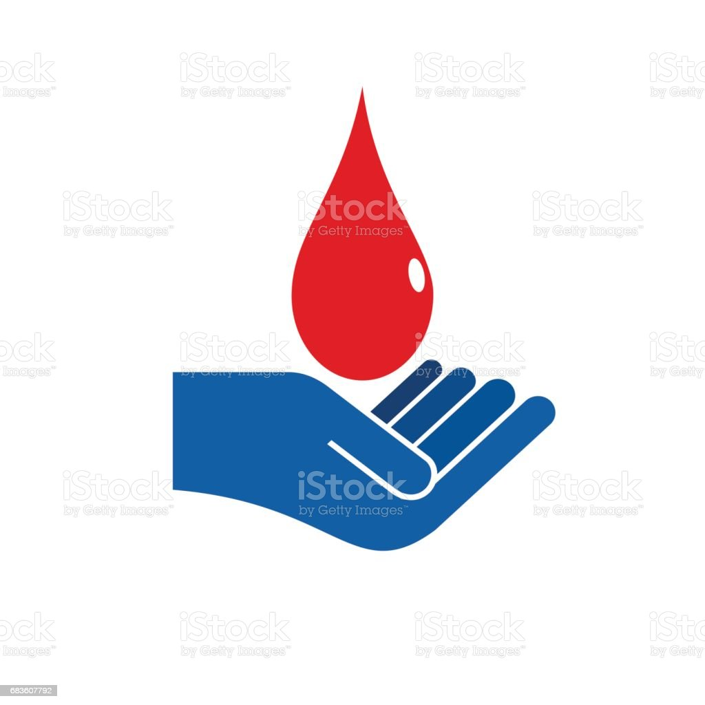 Vector sign blood donation vector art illustration