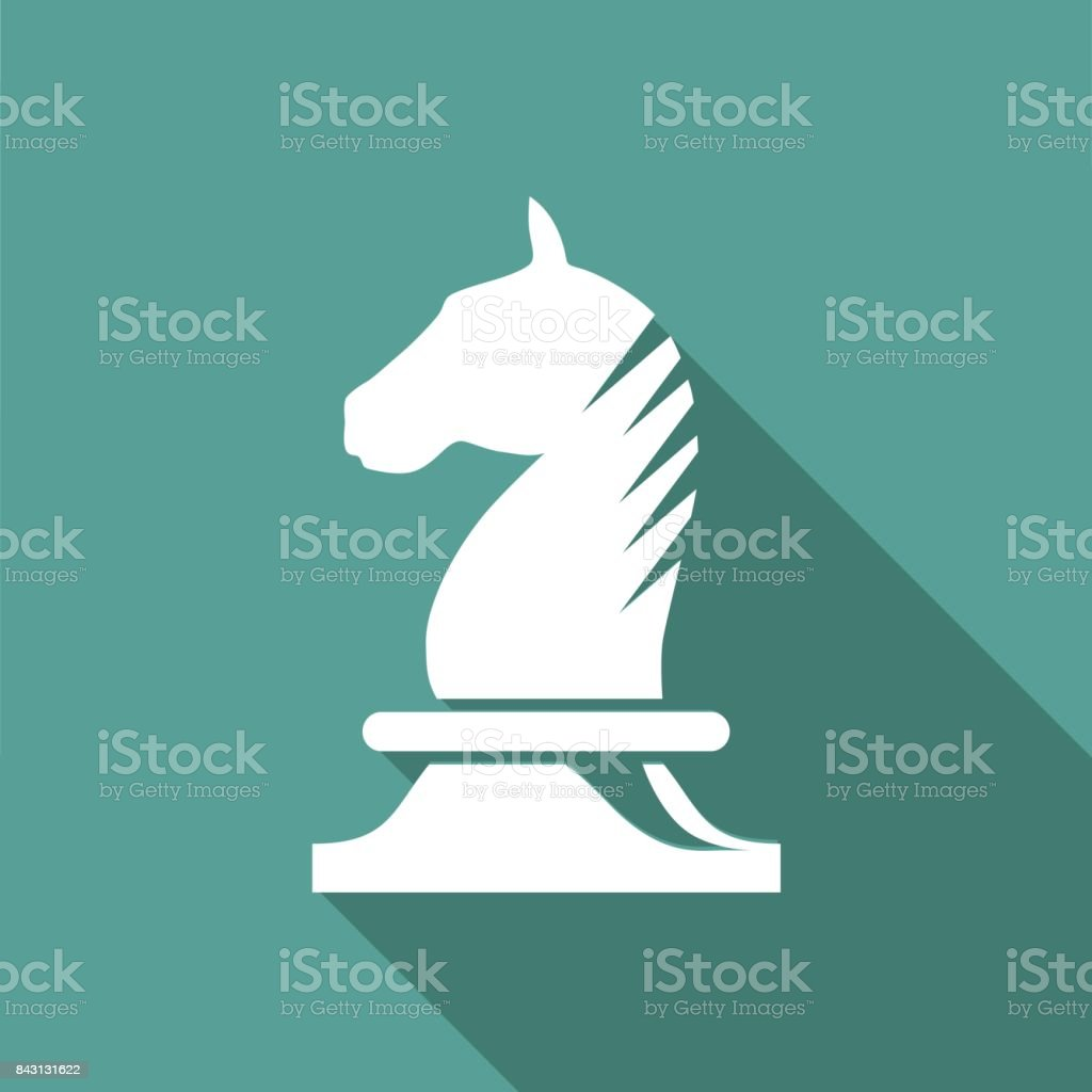 Vector sign horse of chess vector art illustration