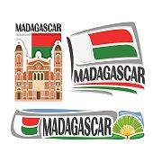 Vector sign Madagascar
