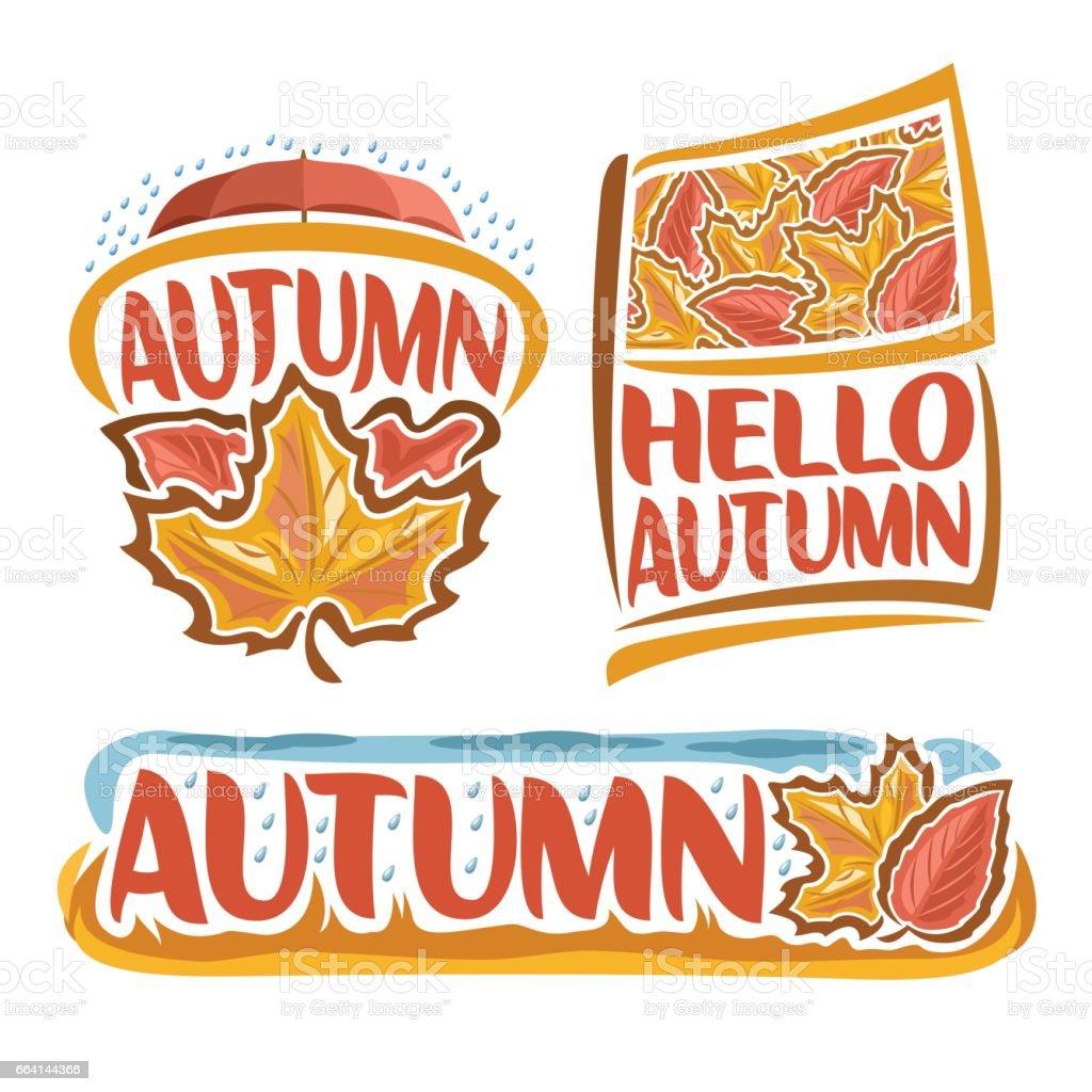 Vector sign of Autumn Rain vector art illustration