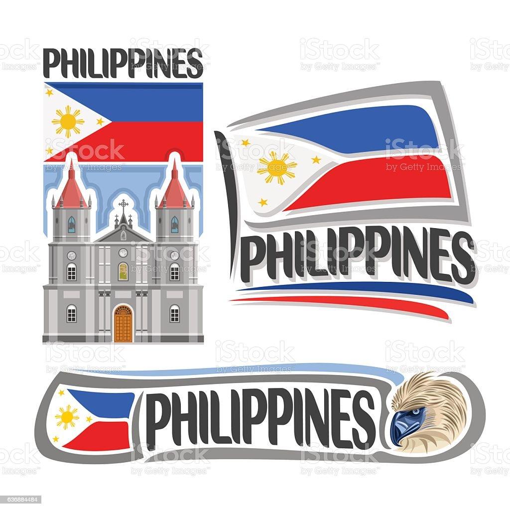Vector sign Philippines vector art illustration