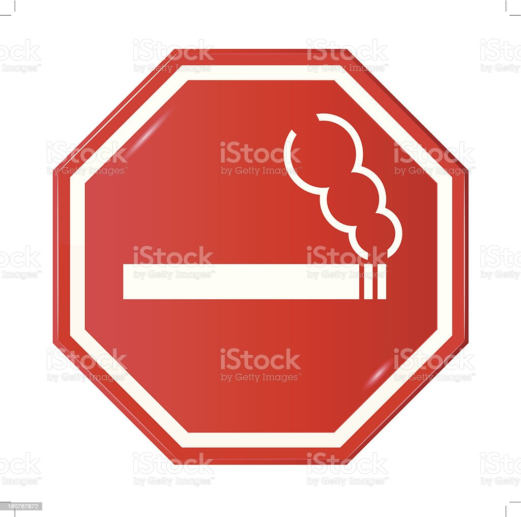Vector sign 'Smoking Allowed' royalty-free stock vector art