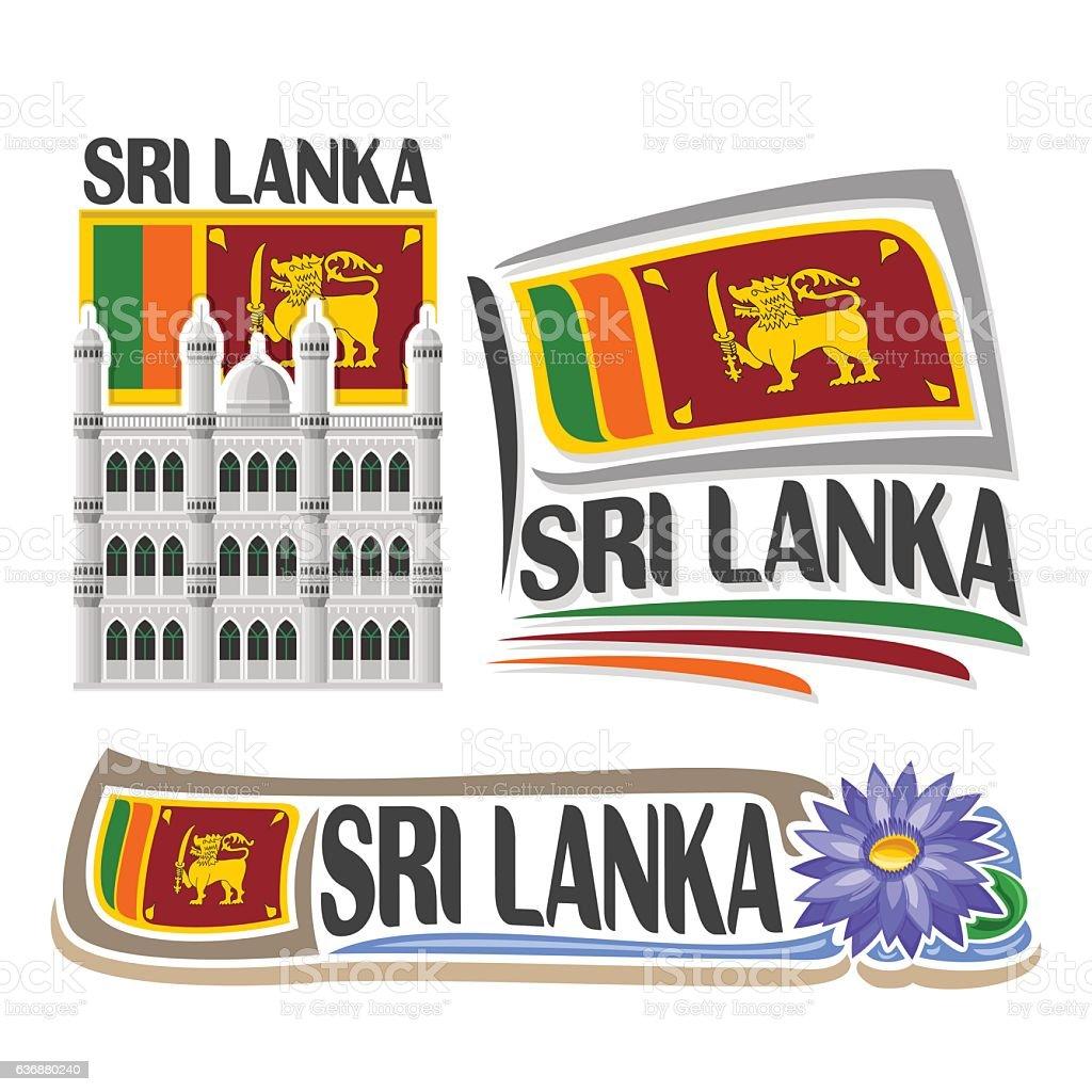 Vector sign Sri Lanka vector art illustration