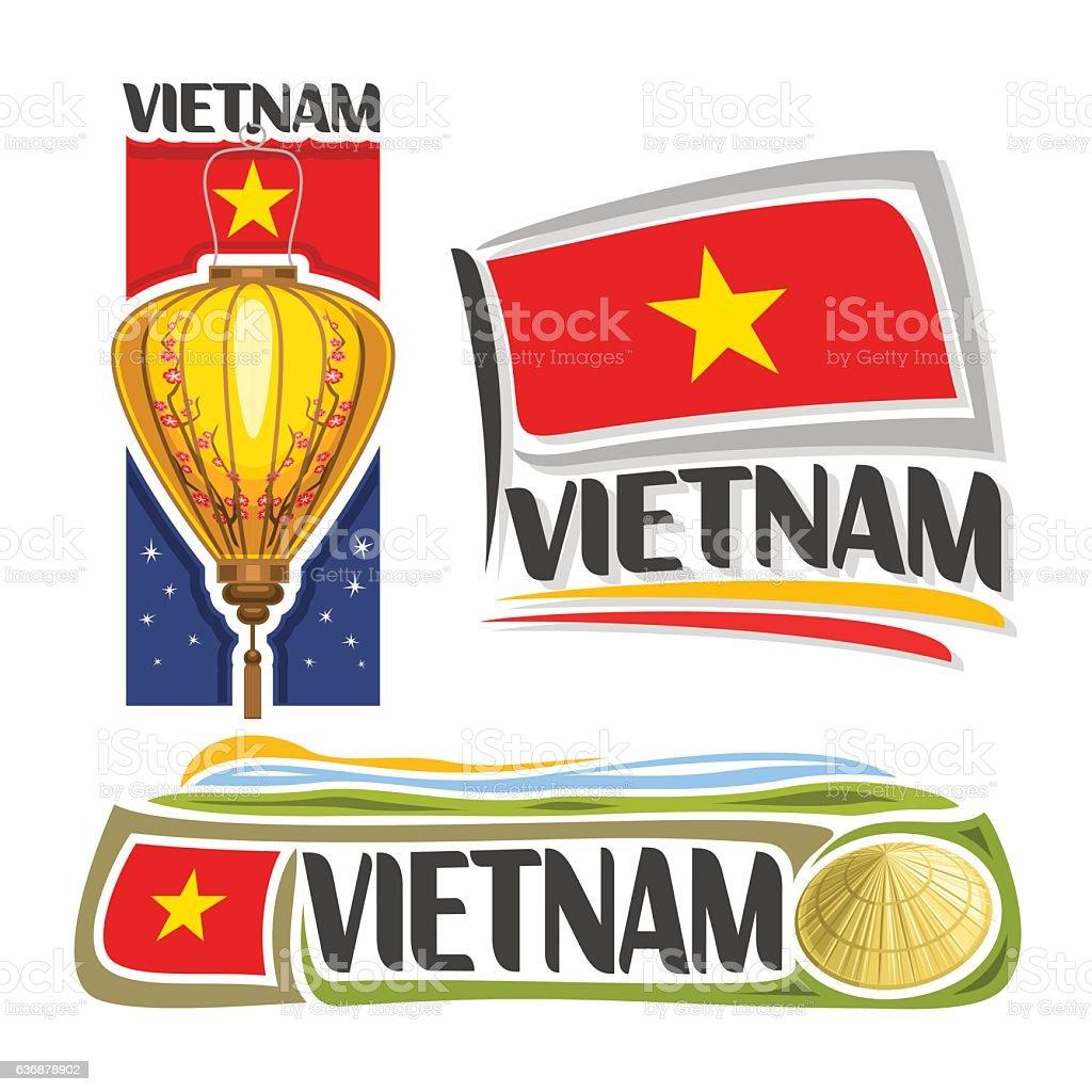 Vector sign Vietnam vector art illustration