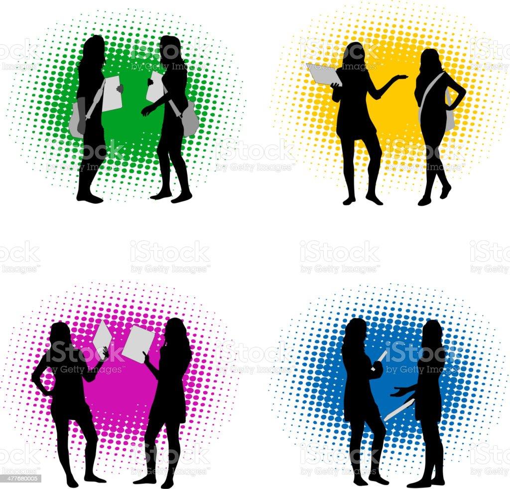 Vector silhouette girls royalty-free stock vector art