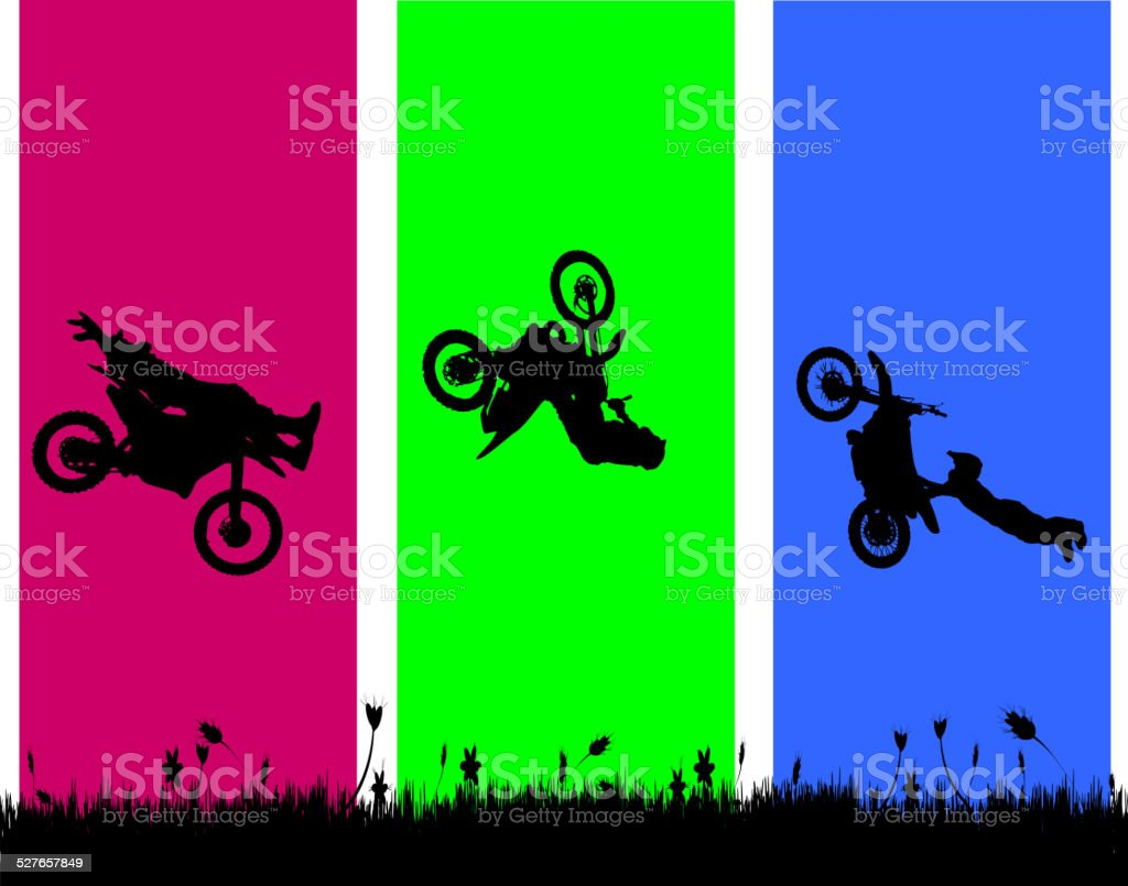 Vector silhouette of a biker. vector art illustration