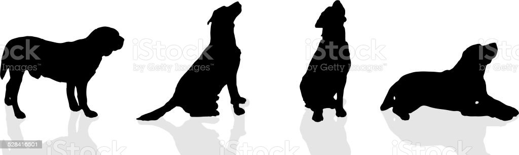 Vector silhouette of a dog. vector art illustration