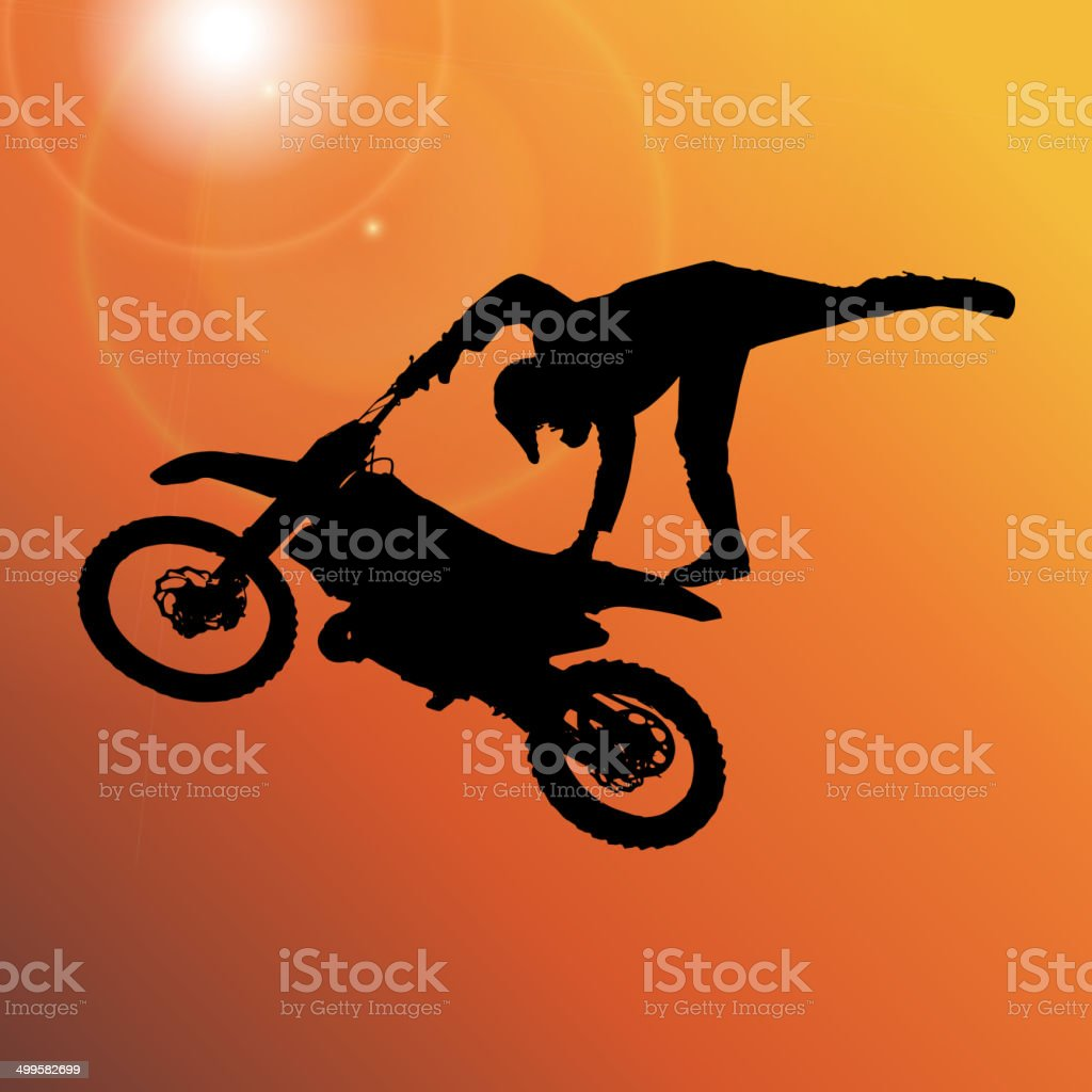Vector silhouette of a man. vector art illustration