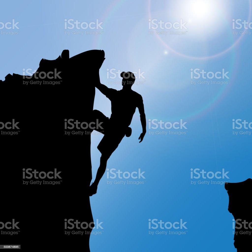 Vector silhouette of a man. vector art illustration
