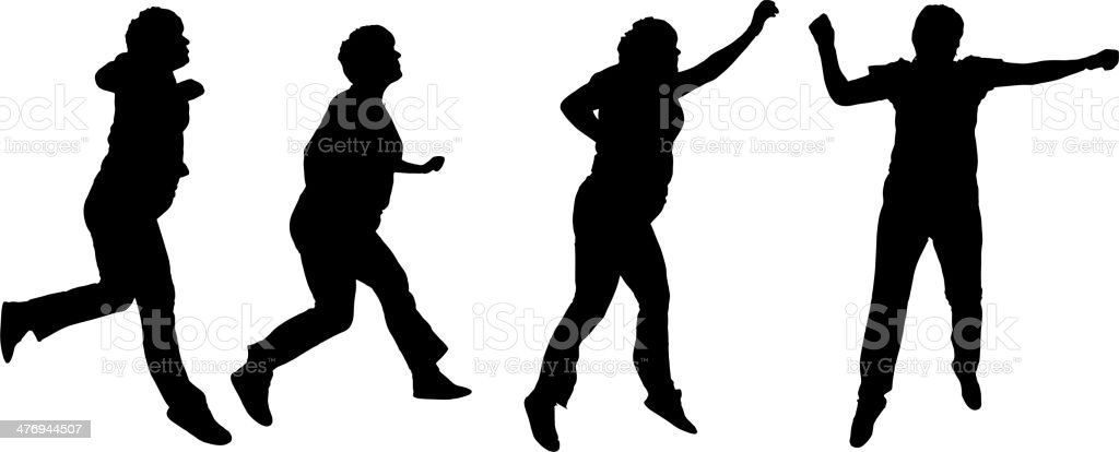 Vector silhouette of a old woman. royalty-free stock vector art