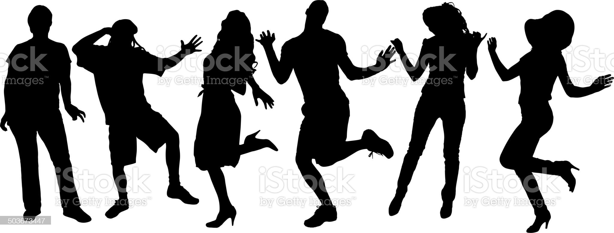 Vector silhouette of a people. royalty-free stock vector art