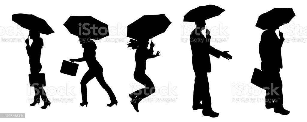 Vector silhouette of a woman and man. royalty-free stock vector art