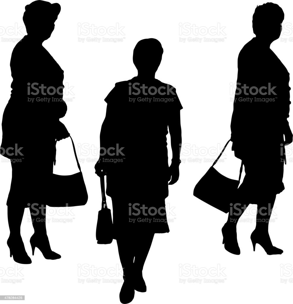 Vector silhouette of a woman. royalty-free stock vector art