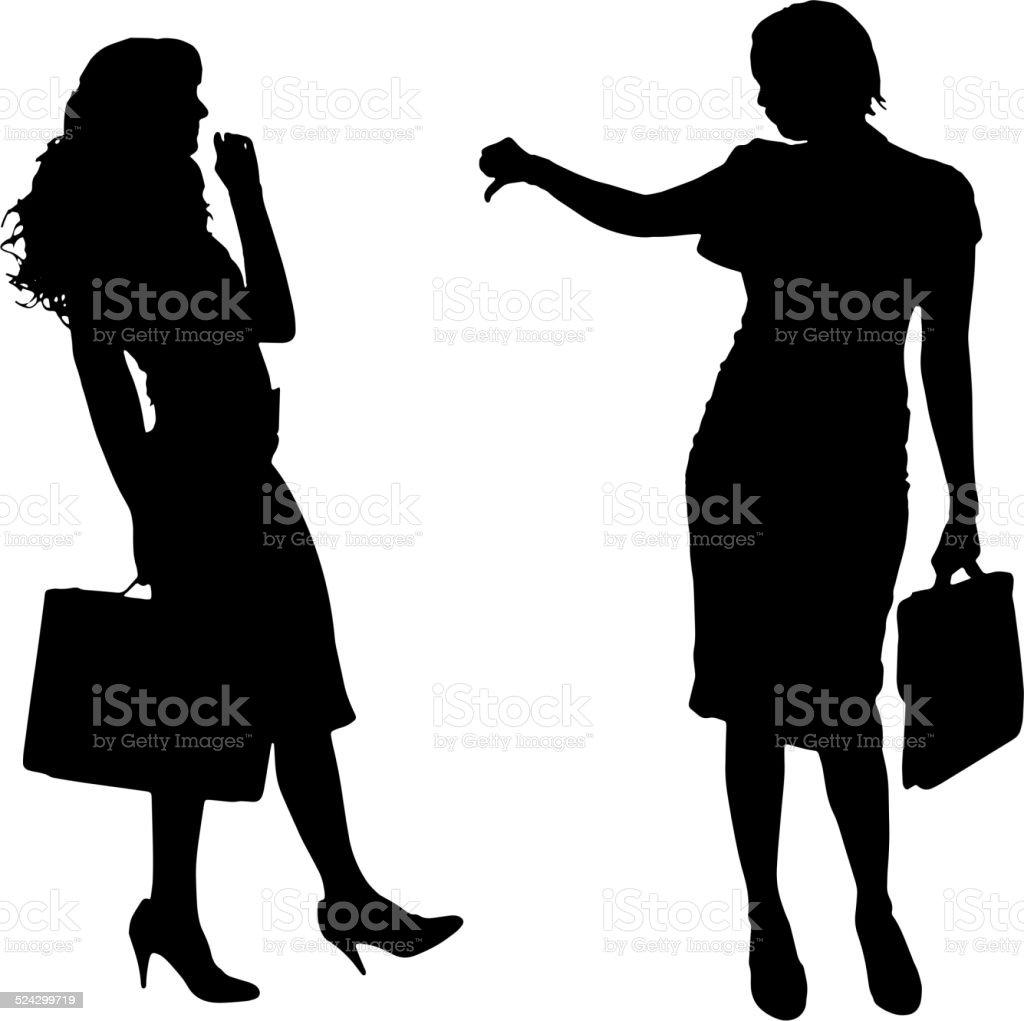 ベクトルシルエットの女性 のイラスト素材 524299719 | istock