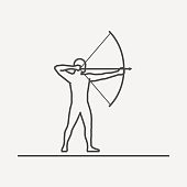 Vector silhouette of archer