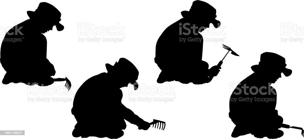 Vector silhouette of boy. royalty-free stock vector art