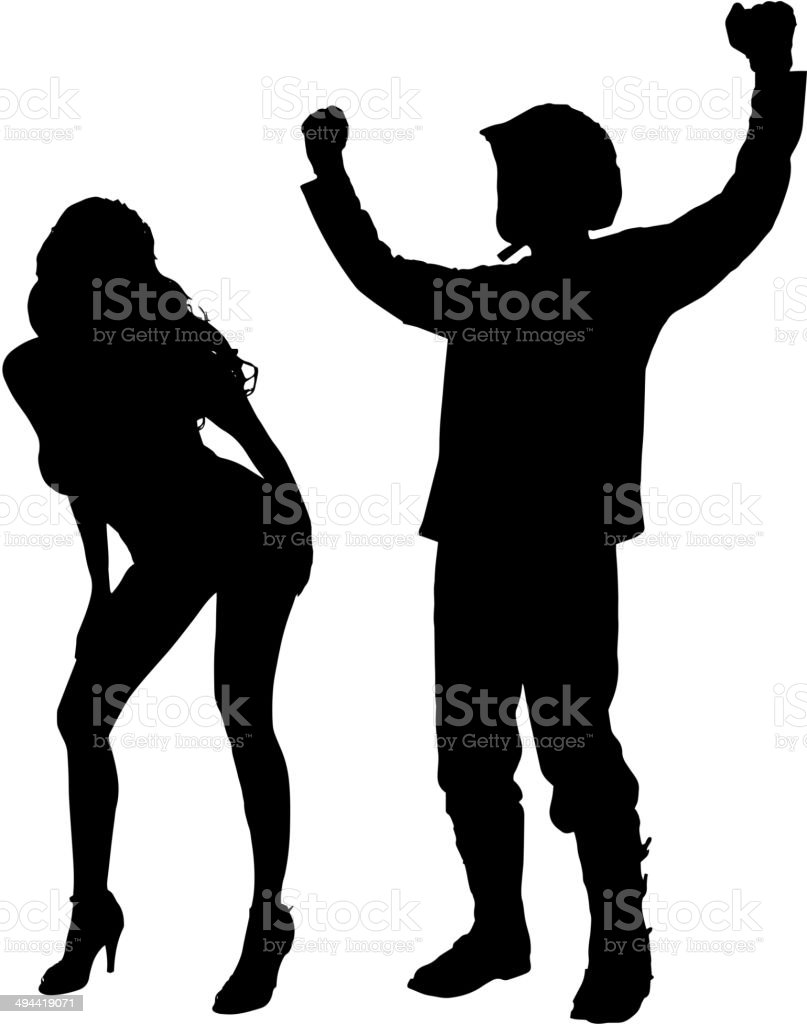 Vector silhouette of couple. royalty-free stock vector art
