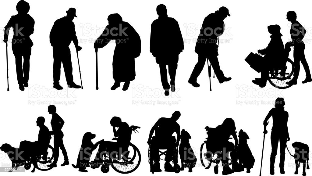 Vector silhouette of family. vector art illustration