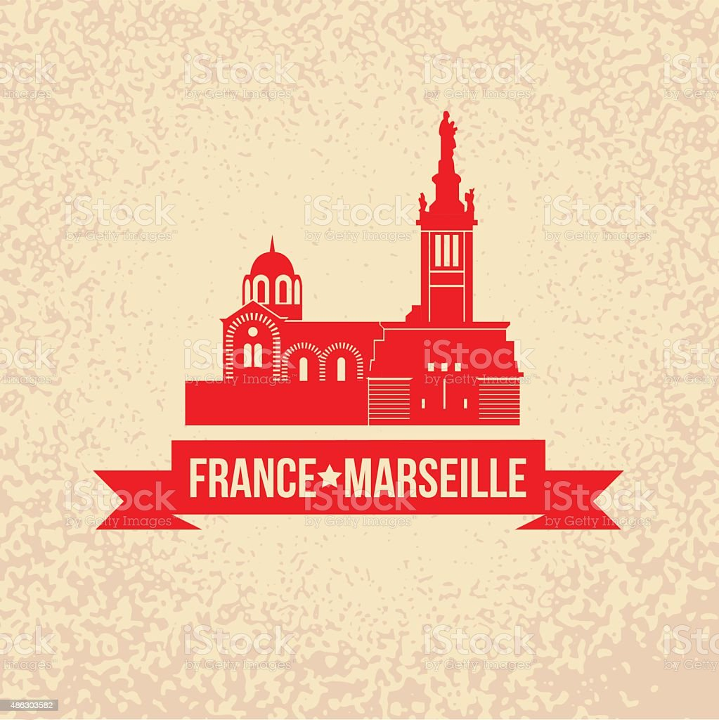 Vector silhouette of Marseille, France. vector art illustration