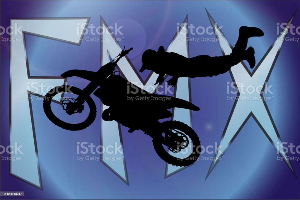 Vector silhouette of motocross. vector art illustration