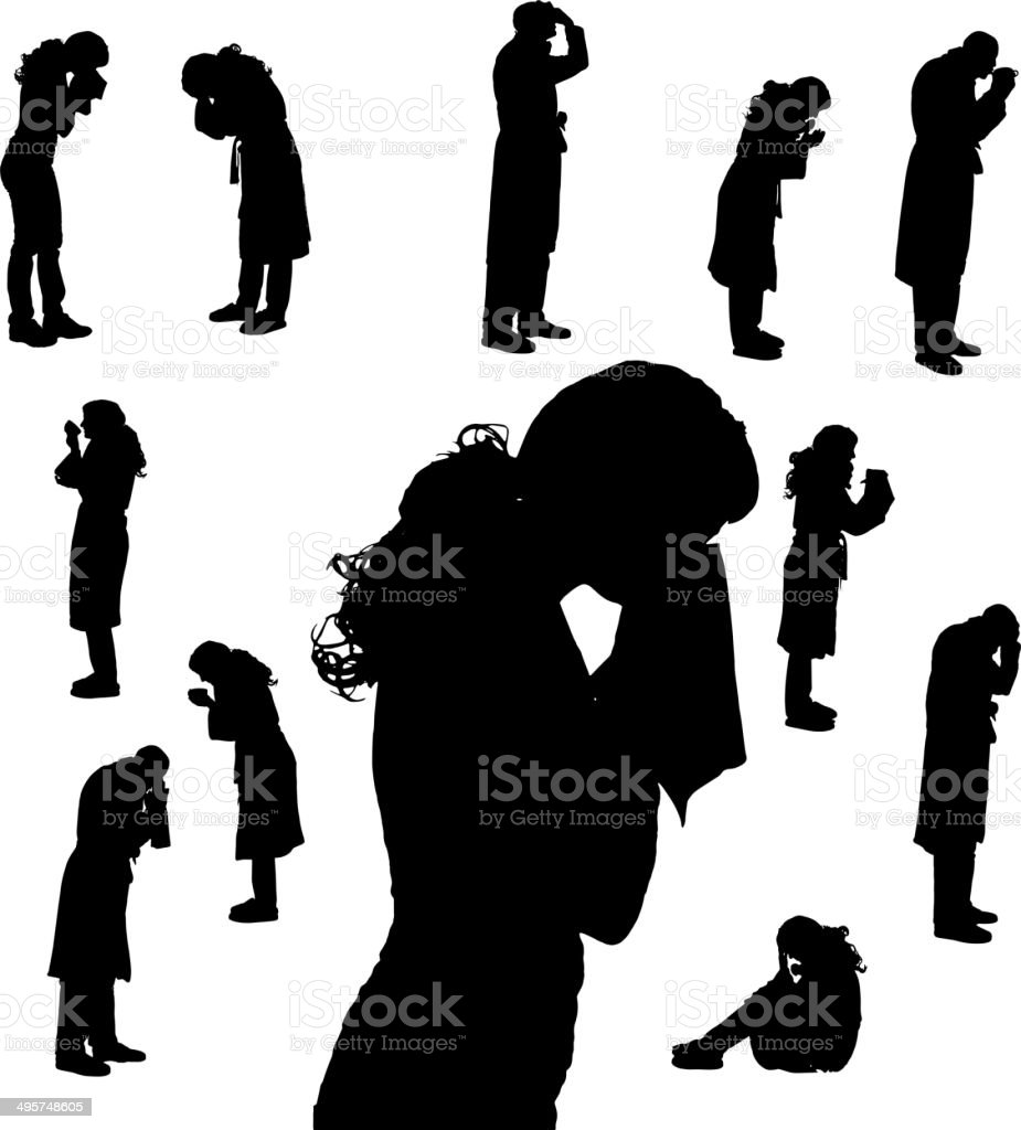 Vector silhouette of people. royalty-free stock vector art