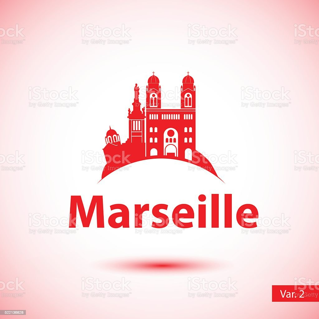 Vector silhouette of the symbol of Marseille, France. vector art illustration