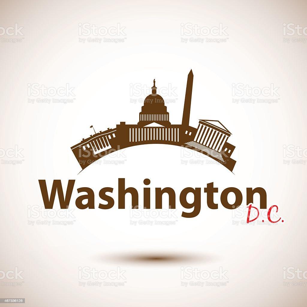 Vector silhouette of Washington DC, USA vector art illustration