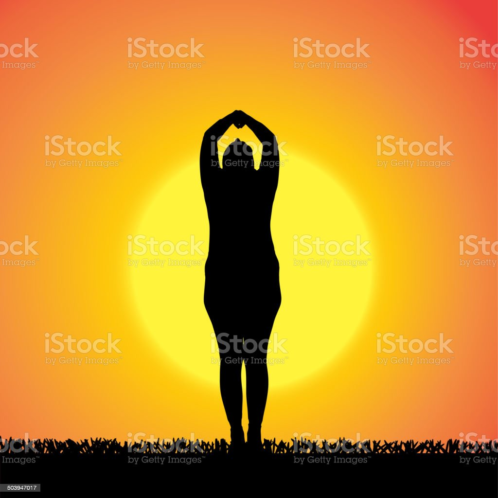Vector silhouette of woman. royalty-free stock vector art