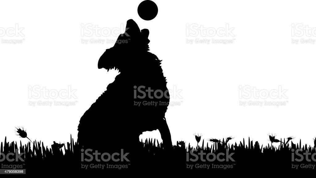 Vector silhouette. vector art illustration