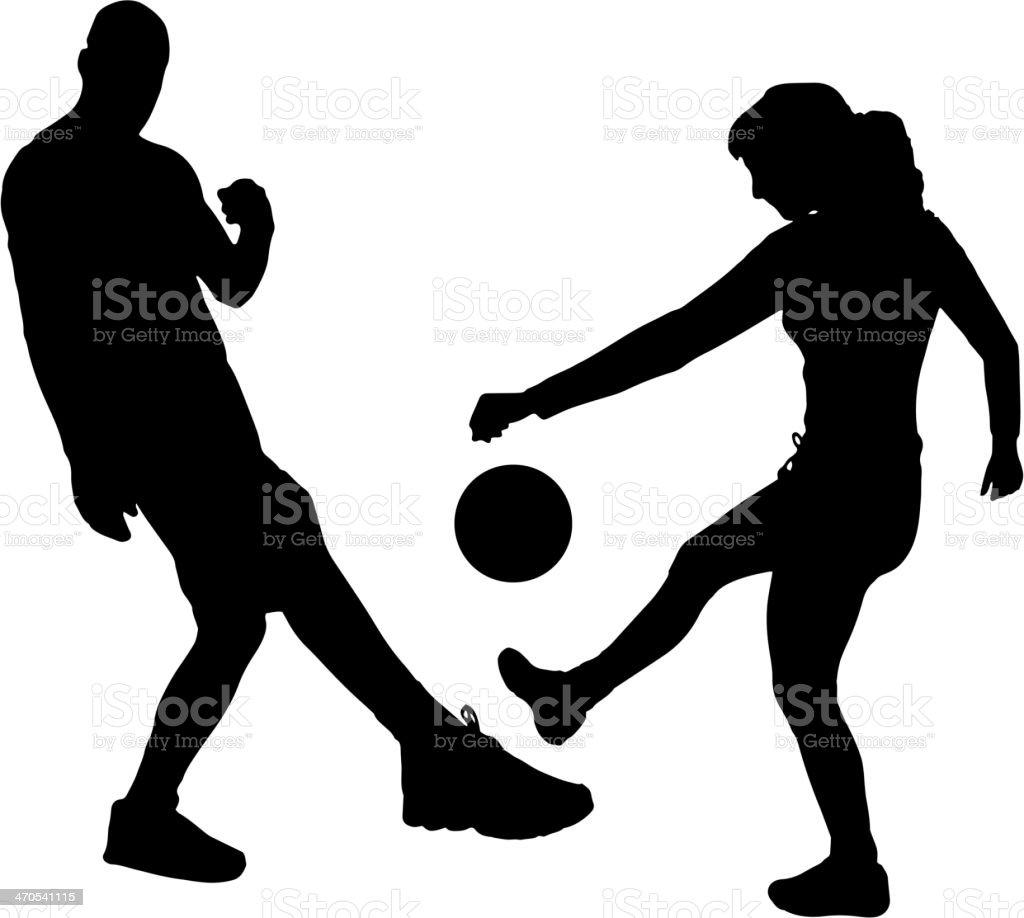 Vector silhouettes football. royalty-free stock vector art
