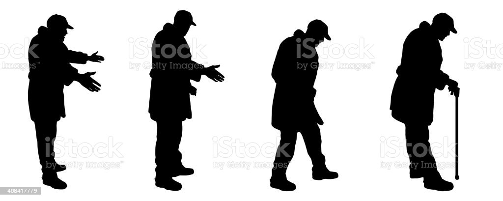 Vector silhouettes of people. royalty-free stock vector art