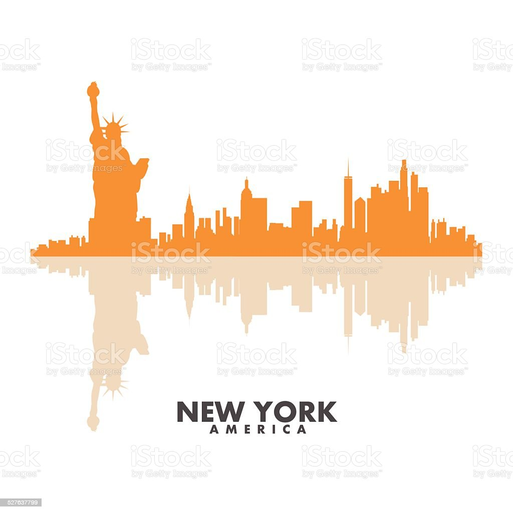 Vector silhouettes of the city vector art illustration