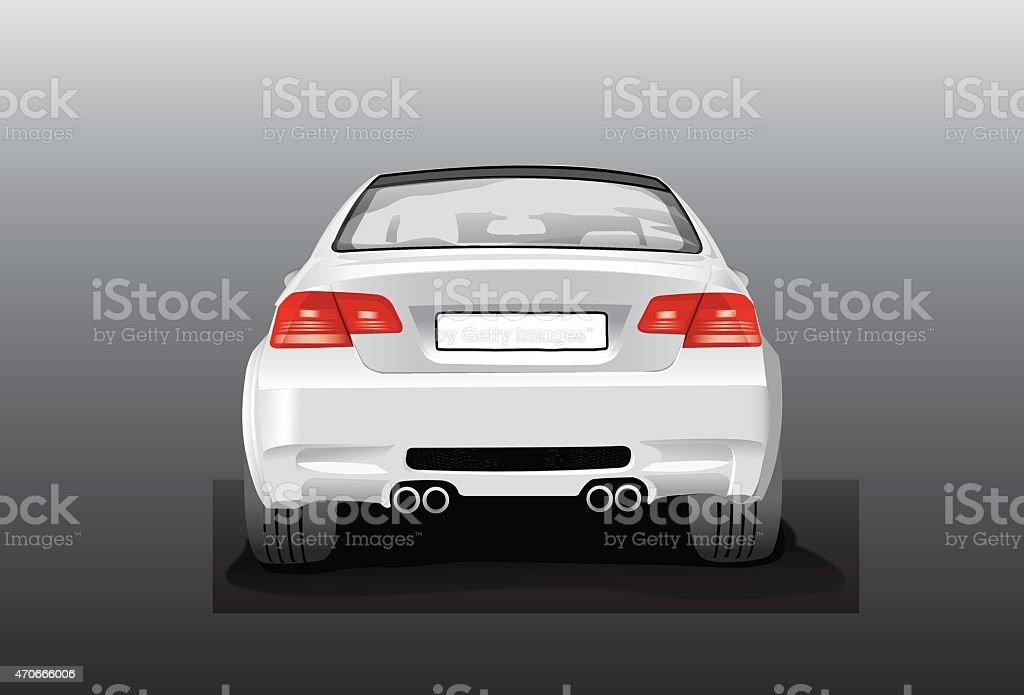 Wektor srebrny Samochód-widok z tyłu stockowa ilustracja wektorowa royalty-free