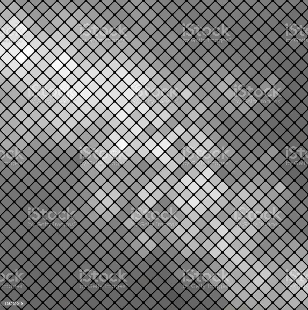 Vector silver mosaic vector art illustration
