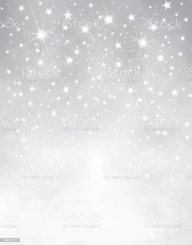 Vector silver starry background. vector art illustration