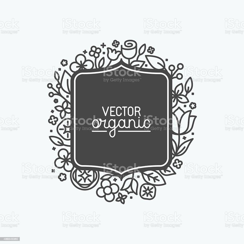 Vector simple and elegant logo design template vector art illustration