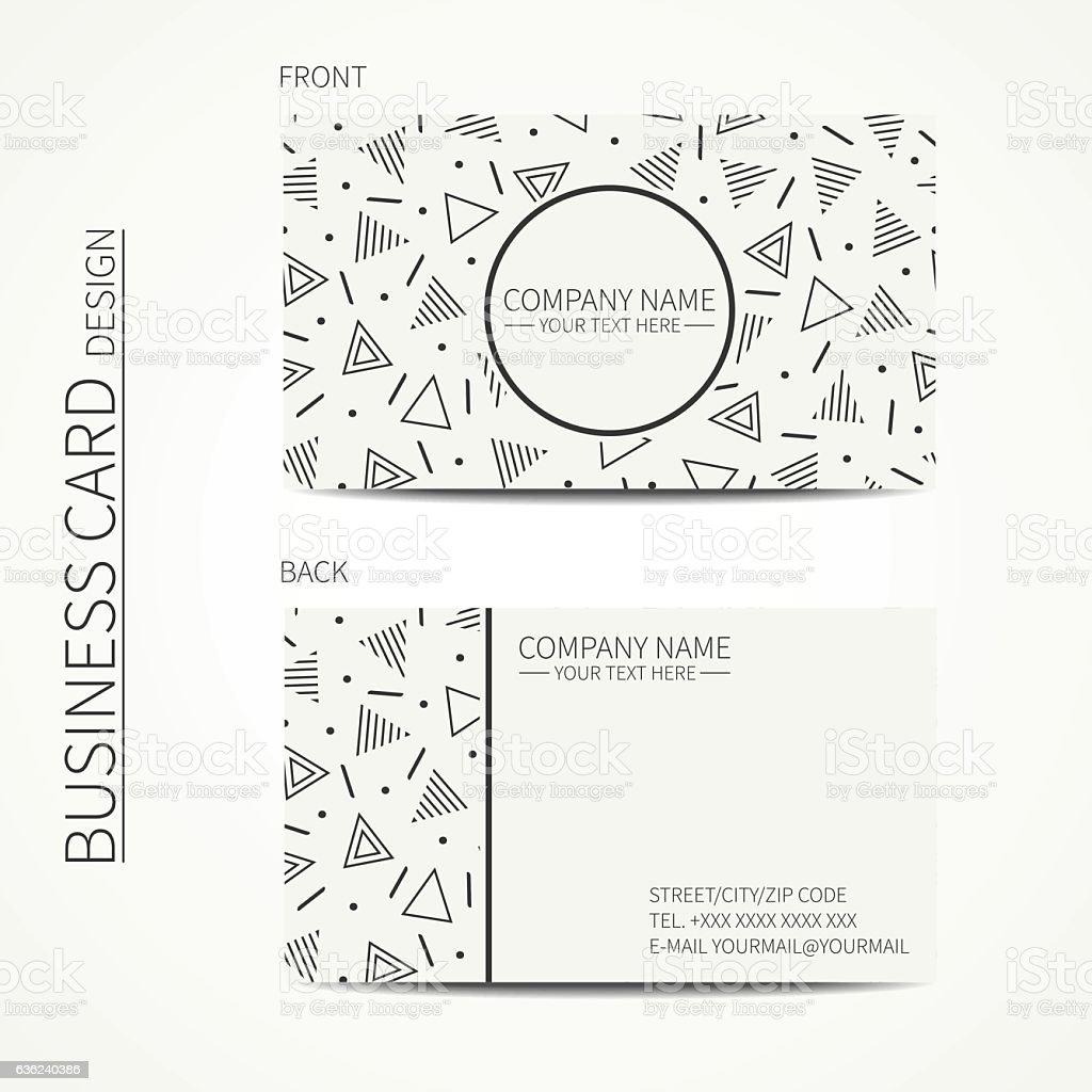Vector simple business card design.  Business card. Trendy calling card. vector art illustration