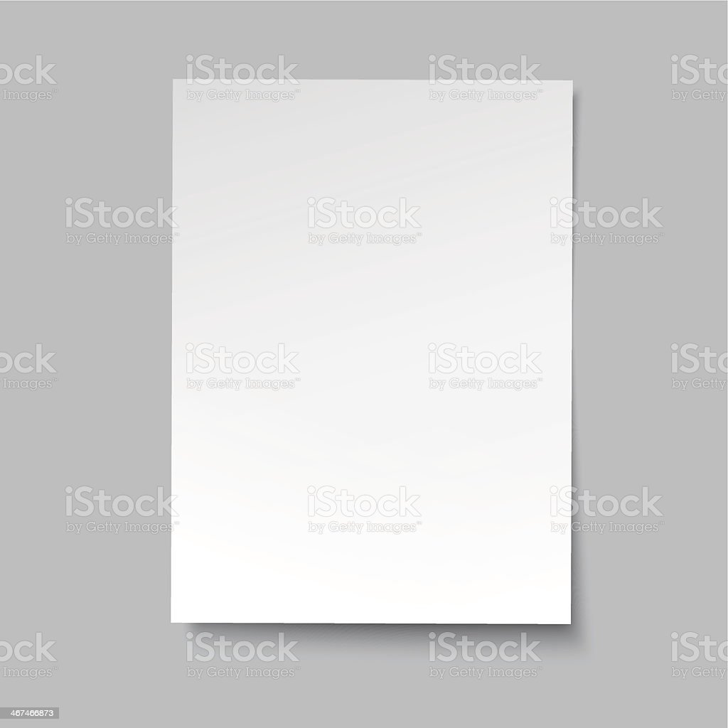 vector simple paper sheet vector art illustration