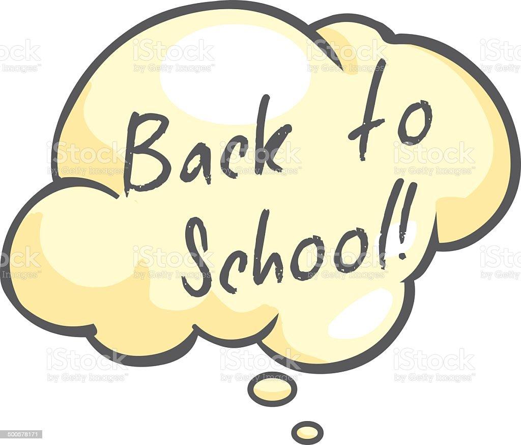 Vector Single Cartoon Bubble - Back to School. royalty-free stock vector art
