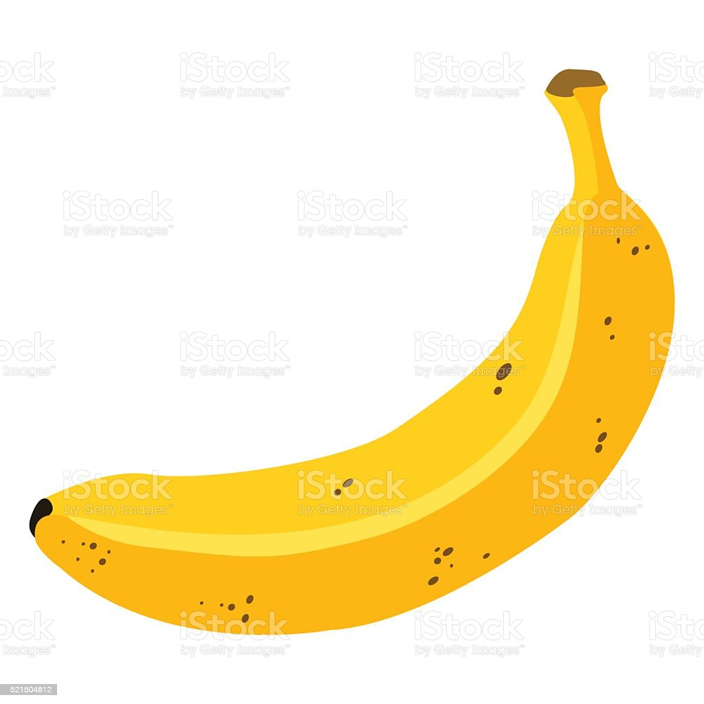 Vector Single Cartoon Overripe Banana vector art illustration