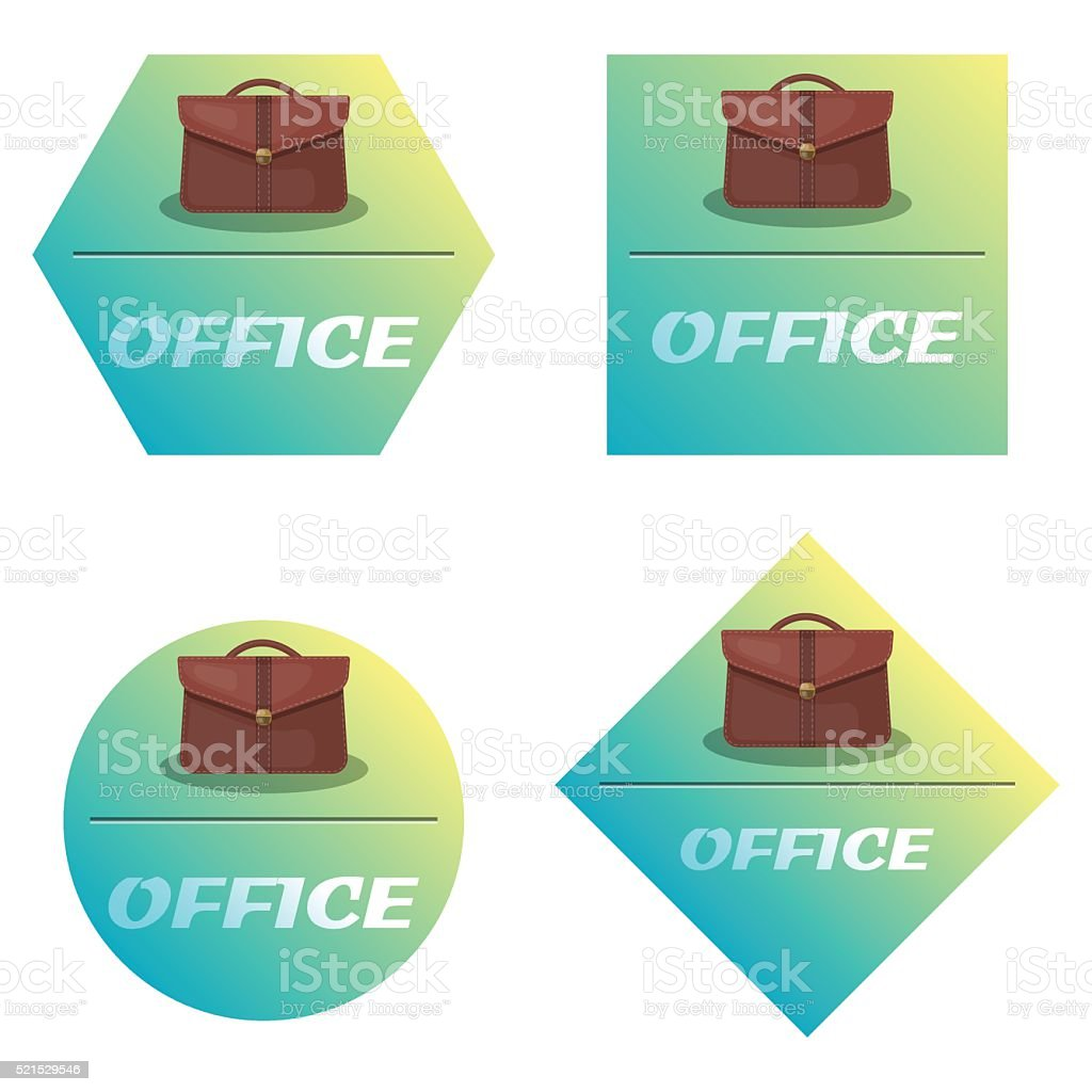 Vector single colorful briefcase icon vector art illustration