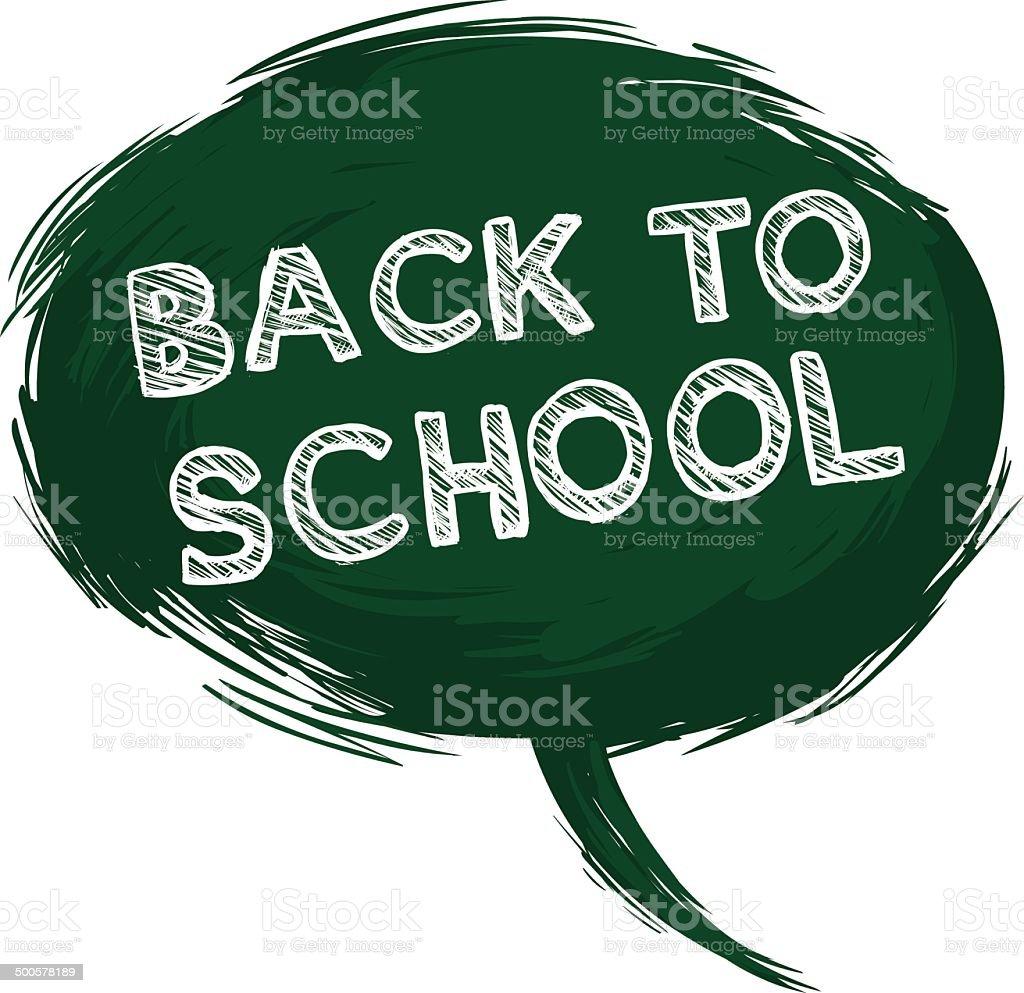 Vector Single Grunge Green Bubble - Back to School. royalty-free stock vector art