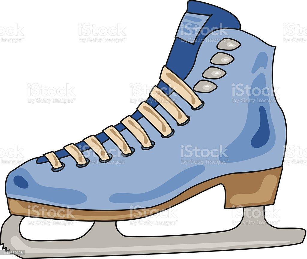 Roller skates for figure skating - Vector Skates For Figure Skating On A White Background Royalty Free Stock Vector Art