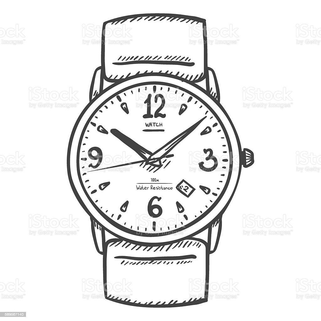 Watch clipart black and white / Watch kamen rider w movie ...
