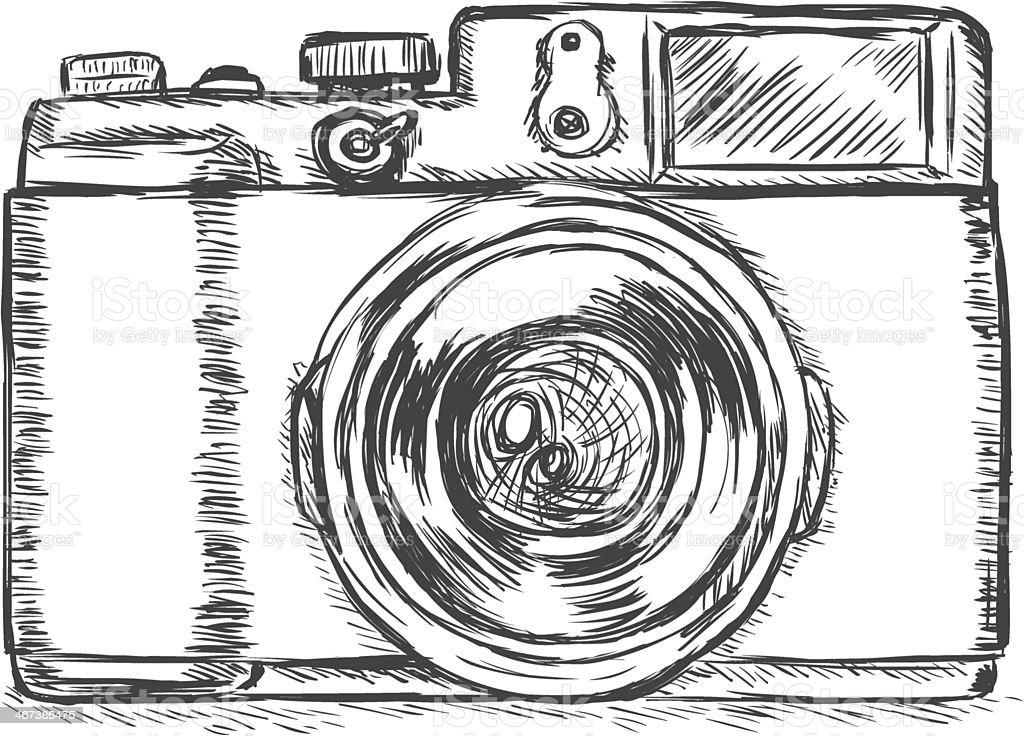 vector sketch illustration -photo camera royalty-free stock vector art