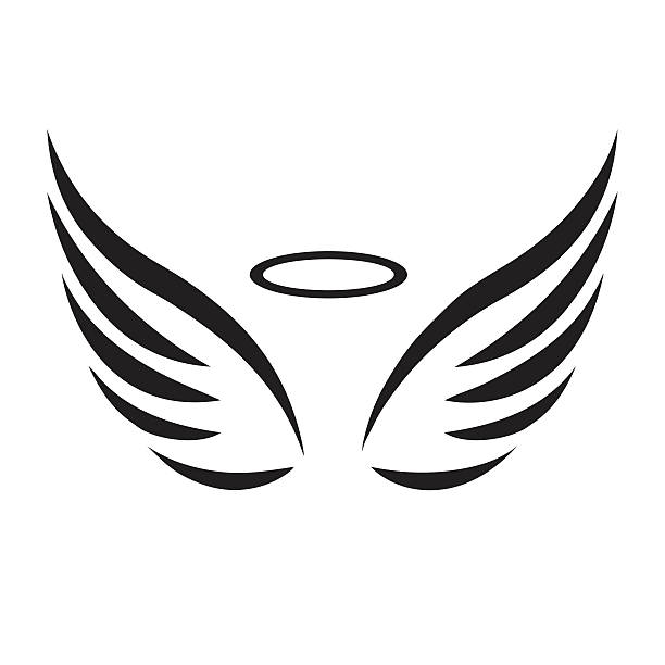 free angel wings with halo clip art - photo #22
