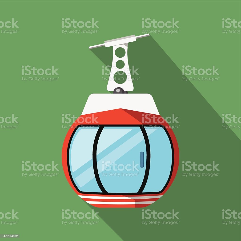 Vector Ski Lift Gondola vector art illustration