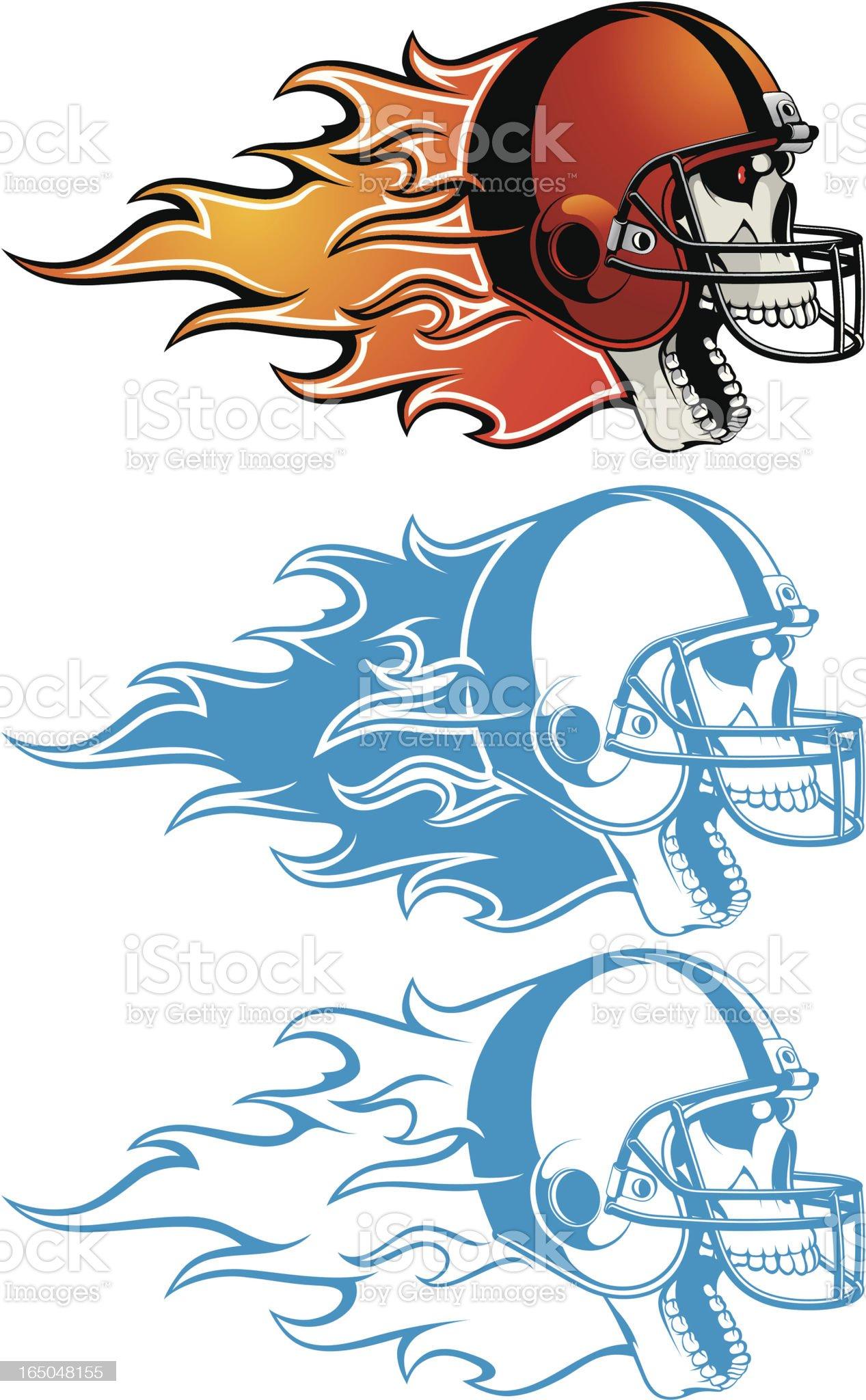 vector skull in helmet royalty-free stock vector art