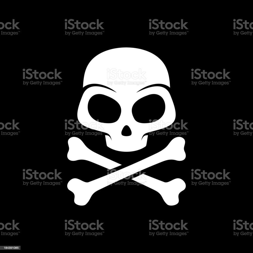 Vector skull on black background royalty-free stock vector art